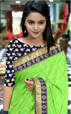 Designer Light_green Panetar Sana Chex Designer Look Saree