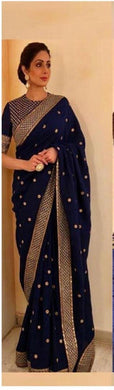Designer Navy_blue Georgette Bollywood Look Saree