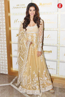 Amazing Cream Georgette Embroidery Work Bollywood Look Suit