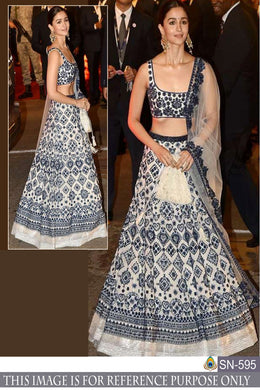 Attractive Black And White Satin Silk Digital Printed Bollywood Look Circular Lehenga Choli