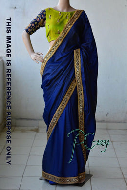 Heavy Designer Sana Silk Embroidery + Pearl Work Saree With Work Blouse
