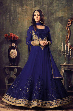 Atractive Bollywood Style Designer Heavy Net With Embroidery Work Anarkali Dress