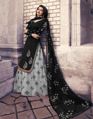 Atractive Bollywood Style Designer Heavy Georgette With Embroidery Work Indo Western Lahenga With