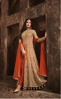 Heavy Net With Embroidery Work Designer Dress With Siquence And Stone Work