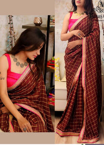 Indian And Bollywood Style Designer Party Wear Sik Saree