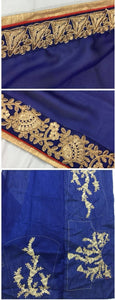 Indian And Bollywood Style Designer Embroidery Work Saree