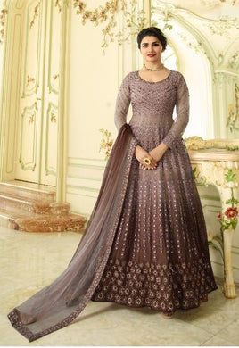 Atractive Bollywood Style Designer Heavy Sheded Net With Embroidery & Stone Work Anarkali Dress