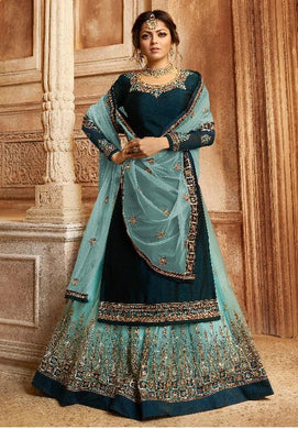 Atractive Bollywood Style Designer Heavy Georgette With Embroidery Work Lahenga Style Salwar Suit