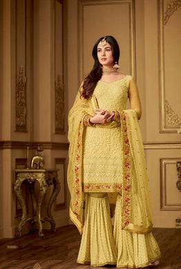 Atractive Bollywood Style Designer Heavy Net With Embroidery Work Plazzo Dress