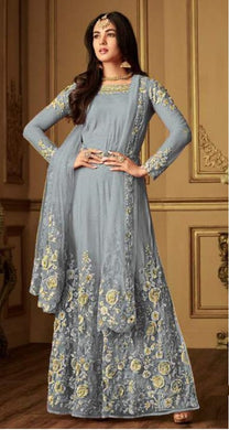 Grey Colore New Arrival Pakistani Style Designer Dress Designer Salwar Kameez Long Dress Embroide