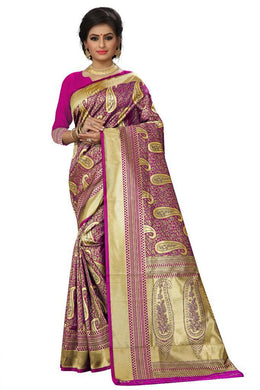 Atrective Designer Kanchi Silk With Heavyjecard Rich Zari Pallu With Zari Border Saree