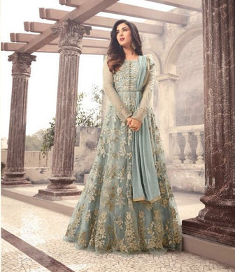 Grey Colore New Arrival Pakistani Style Designer Dress Designer Salwar Kameez Anarkali Dress E
