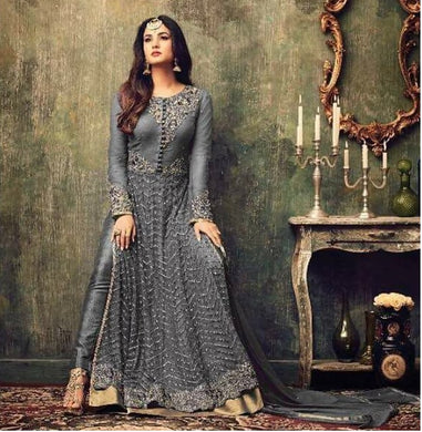 Grey Colore New Arrival Pakistani Style Designer Dress Designer Salwar Kameez With Bollywood