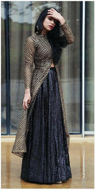 Bollywood Style Designer Rasal Net With Koti With Embroidery Work Lehenga Choli