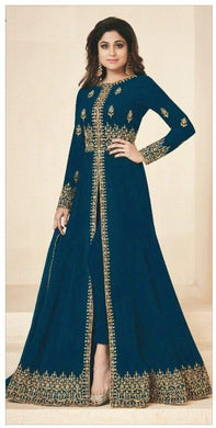 Atractive Bollywood Style Designer Heavy Georgette With Embroidery Work Anarkali Dress
