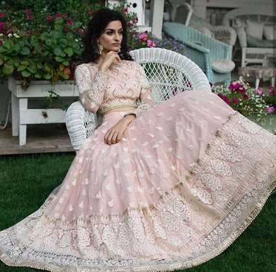 Pink Colore Designer Bollywood Style Wedding Wear Heavy Fancy Embroidery Work Lehenga Choli Wi