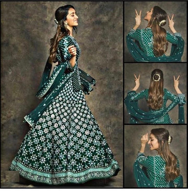 Green Colore Designer Bollywood Style Wedding Wear Heavy Fancy Embroidery Work Lehenga Choli