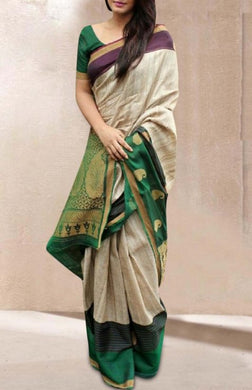 New Latest Multicolor Trendy Soft And Smooth Golden Zari Digital Print Saree