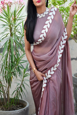Light Margeto New Trendy Lattest Collection Soft And Smooth Vichitra Silk Embroidery Saree With B