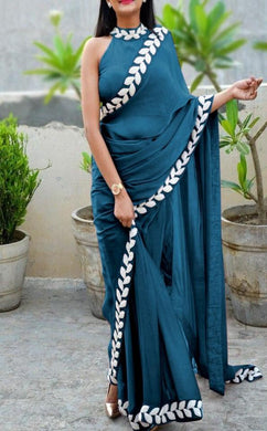 Firogi New Trendy Lattest Collection Soft And Smooth Vichitra Silk Embroidery Saree With Blouse