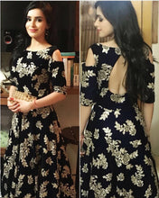 New Trendy Lattest Designor Black Colour Heavy Embroiderey Work  Gown