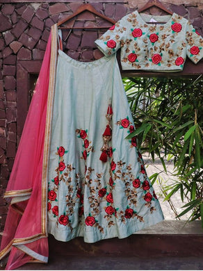 Exclusive Festival Lattest Creation Bangalori Silk  Embroidered Work Circular Lengha
