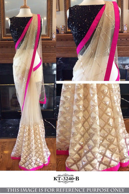 Category : Saree Product_name : Designer Border White
