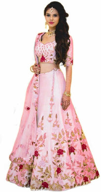 Awesome Good Looking Satin Banglory Silk Embroidered Lehenga Choli
