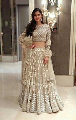 Indian Good Looking Super Indian Bollywood Actress Georgette Embroidered Lehenga Choli