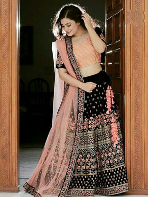 Heavy Black Bollywood Indian Wedding Gift Lehenga Choli Party Ethnic Lengha Choli