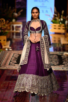 Purple Color Lunching New Designer Wedding Special Lehengas Choli With Dupatta