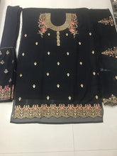 Attactive Black Colour Georgette Salwar Suit