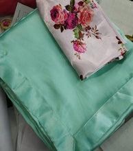 Attactive Skyblue Colour Original Japan Crape Saree