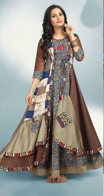 Amazing Multi Colour Pure Modal Chanderi Cotton Kurti