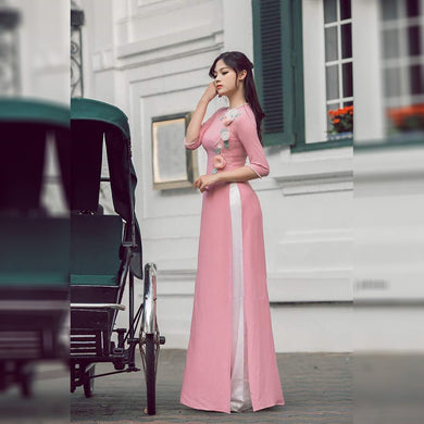 Pink Colorbollywood Style Party Wear Gown