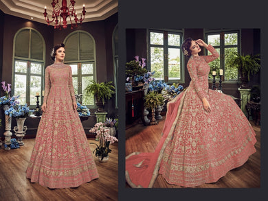 Peach Colore New Pakistani Style Designer Dress Embroidery Work Salwar Suit