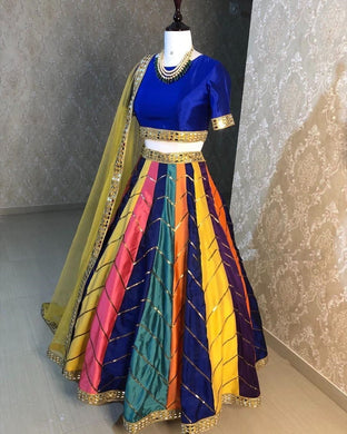 Multy Color Designer Bollywood Style Wedding Wear Heavy Work Lehenga Choli