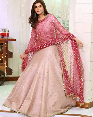 Pink Color Bollywood Style Wedding Wear Salwar Dupatta