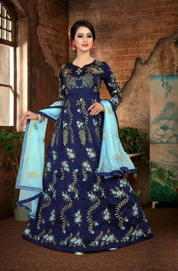 Blue Color Bollywood Style Desiner Wedding Wear Top