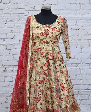 Multi Color Bollywood Style Salwar Kameez Dupatta With Embroydury Workr Party Wear Salwar Kameez