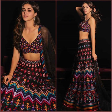 Multi Colore Designer Bollywood Style Wedding Wear Heavy Fancy Embroidery Work Lehenga Choli