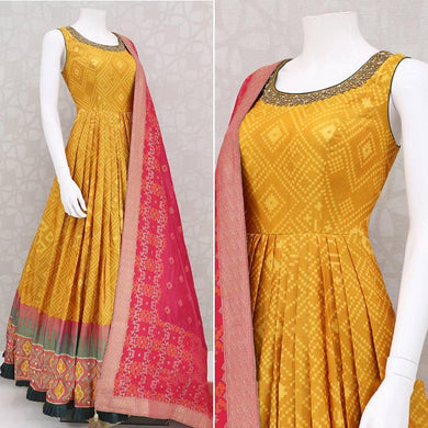 Yellow Color Bollywood Style Party Wear Salwar Dupata