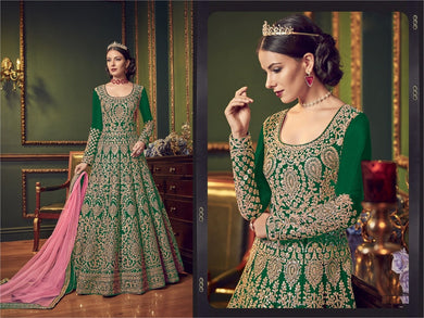 Green Colore New Pakistani Style Designer Dress Embroidery Work Salwar Suit
