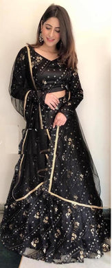 Black Colore Designer Bollywood Style Wedding Wear Heavy Fancy Embroidery Work Lehenga Choli