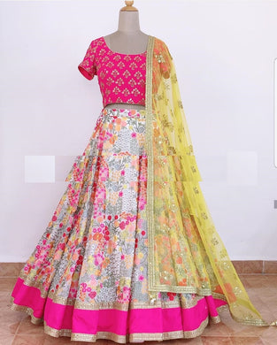 Multy Colore Designer Bollywood Style Wedding Wear Heavy Fancy Embroidery Work Lehenga Choli