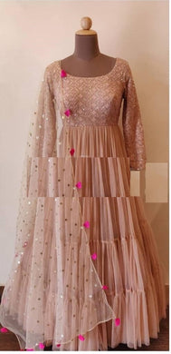 Pink Color Bollywood Styledesiner Wear Salwar Dupata