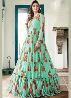 Sky Blue Color Bollywood Style Desiner Wear Top