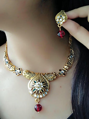 Afghani Tribal Jewellery Set For Women (multicolour)