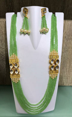 Exclusive Designer Green Pearl Jewellery Set