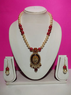 Jewellery Set For Women Tibetan Pendant Necklace With Earrings For Women & Girls